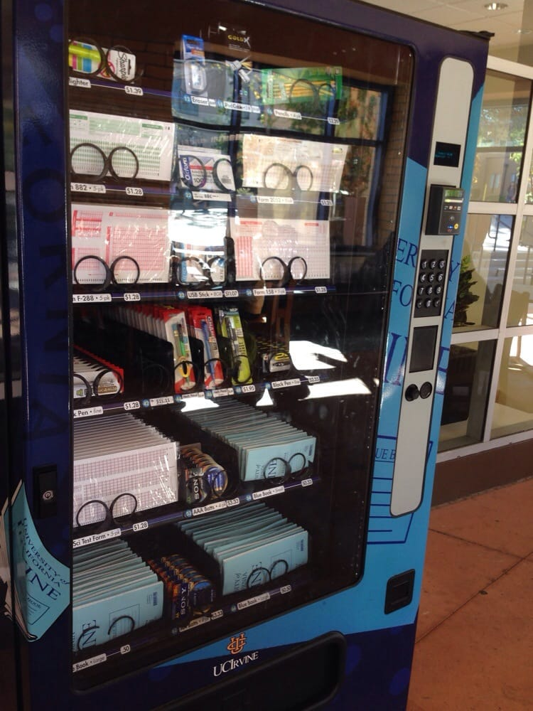 Vending Machine Of Scantrons And Bluebooks For Examsfinals Yelp