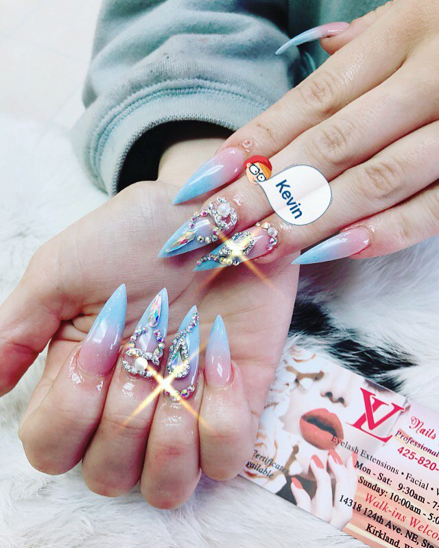 Ombré Powder Light Blue And Pink Design By Kevin Yelp