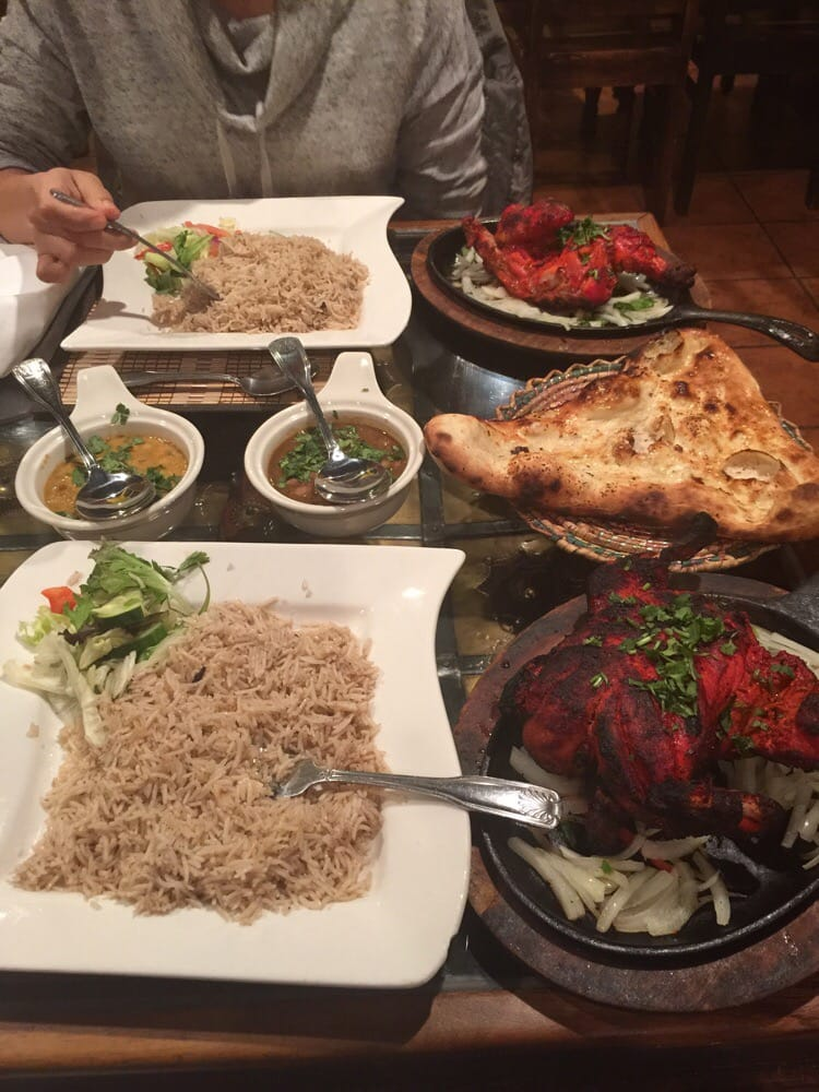 Tandoori chicken 1 2 and full order so good yelp for Angeethi indian cuisine