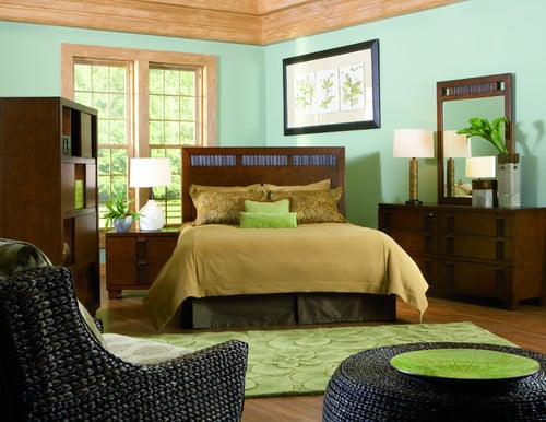 Mandalay 5pc bedroom queen headboard dresser for Cort furniture clearance center