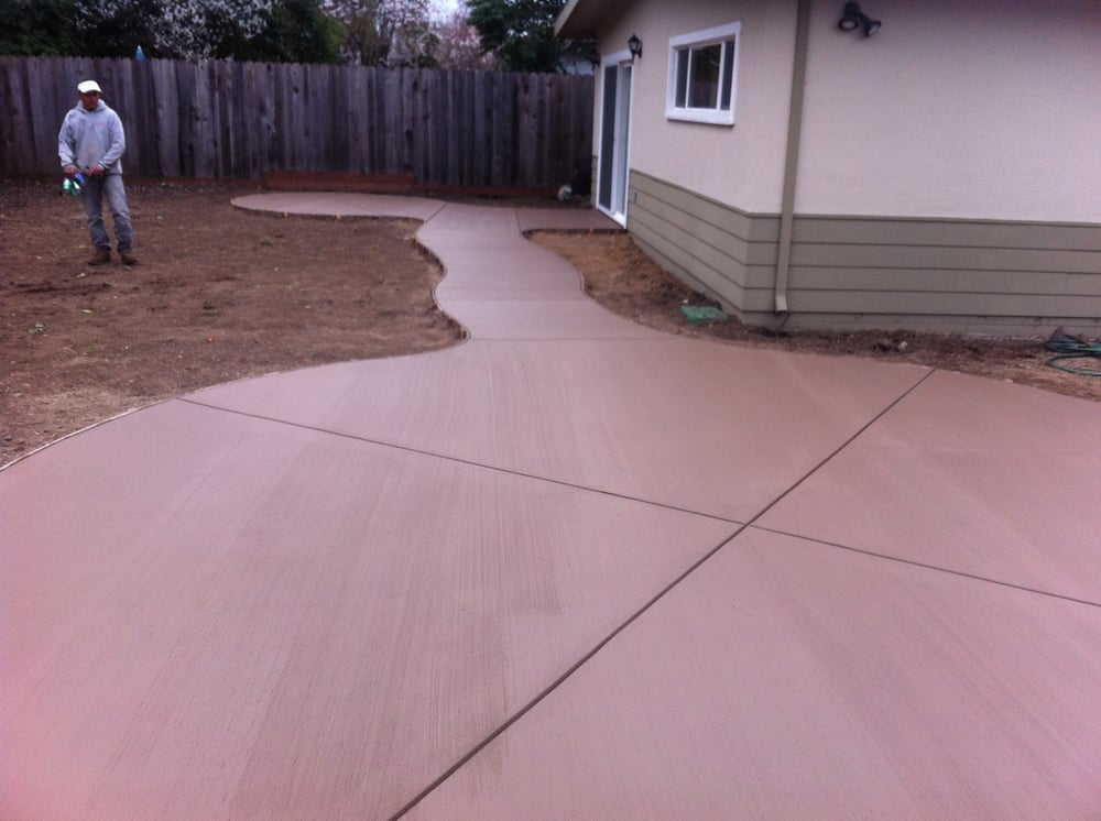 Colored Concrete With Broom Finish Yelp