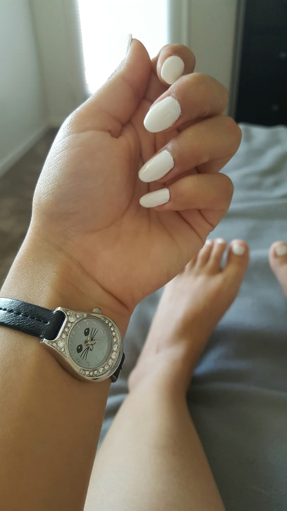 White nails and toes! Very well done. I love them! - Yelp
