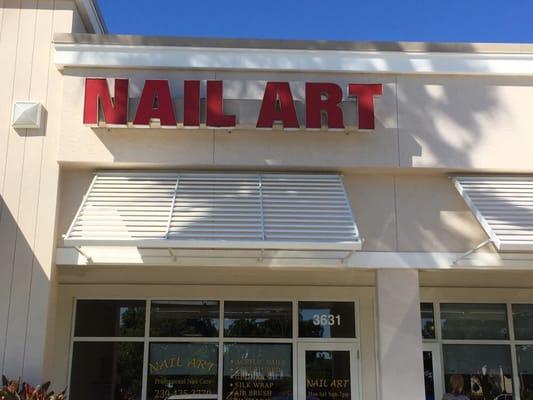 Nail art nail salons 3631 tamiami trl n naples fl phone photo of nail art naples fl united states facade of the store prinsesfo Gallery