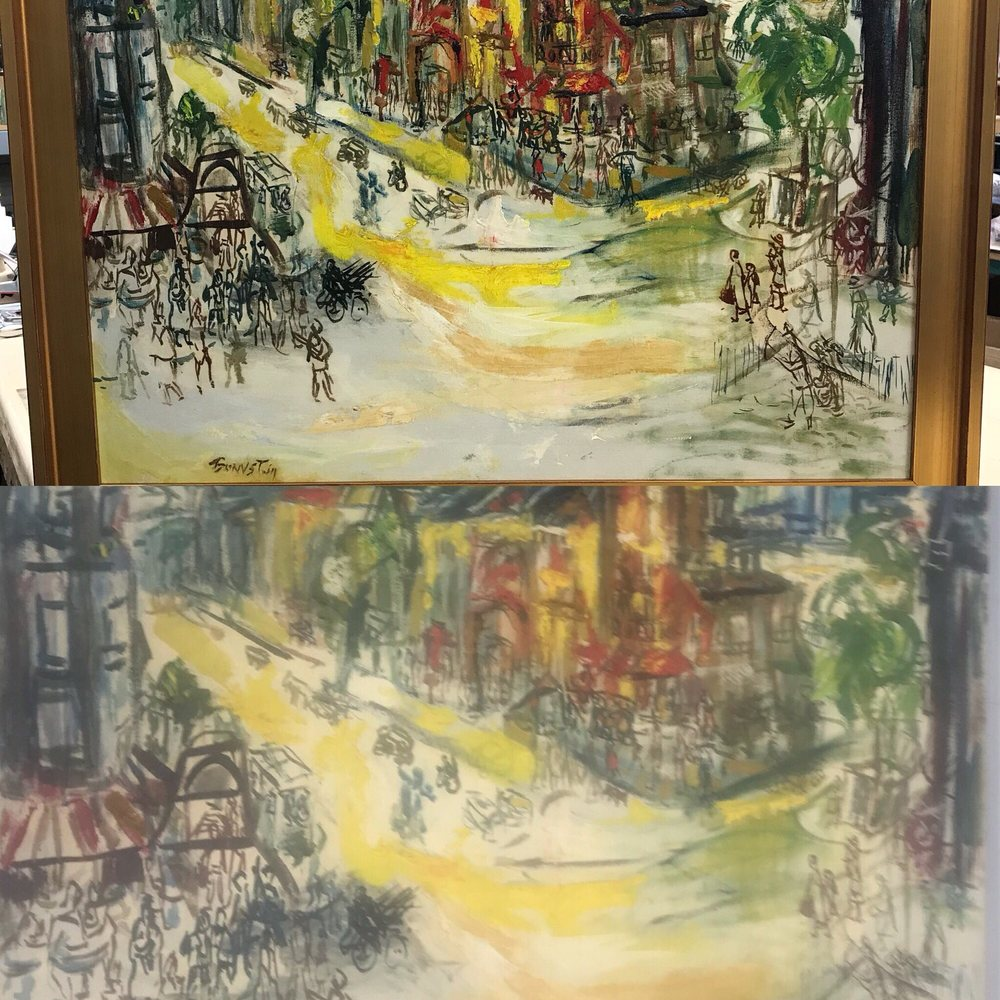 Early 20th century oil on canvas has been clean,relined,varnished to ...