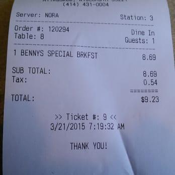 Benny S Restaurant Milwaukee Wi