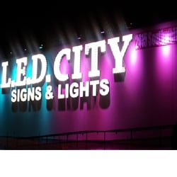 Photo Of Led City Signs Lights Dallas Tx United States