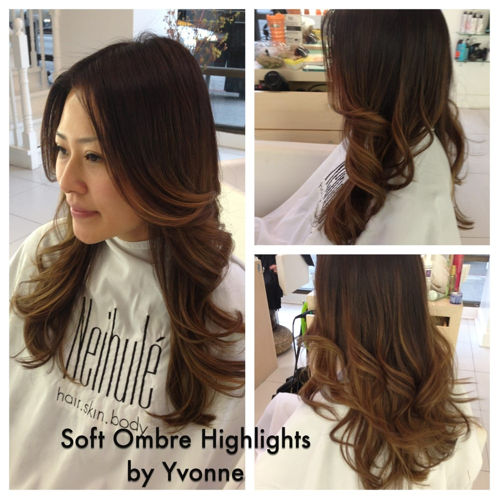 Neihule Nail Salon Los Angeles: Soft Ombre Natural Looking Highlights Haircolor By Yvonne