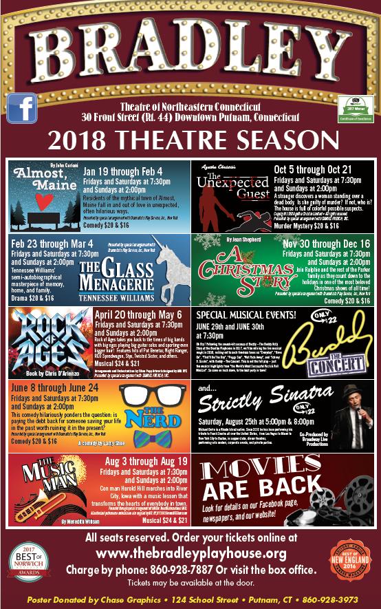 The Bradley Playhouse: 30 Front St, Putnam, CT