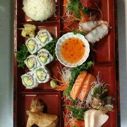 Sho Chiku Sushi - Pomona, NY, United States. Sashimi Dinner Box only $17.95, including soup, salad & rice.