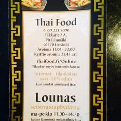 thai lounas helsinki
