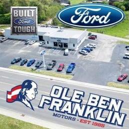 Ole ben franklin ford car dealers 1226 knoxville hwy for Ben franklin motors knoxville tn