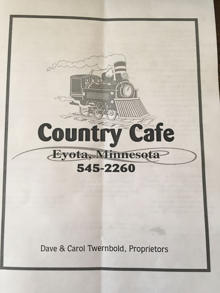 Country Cafe: 215 S Front St SW, Eyota, MN