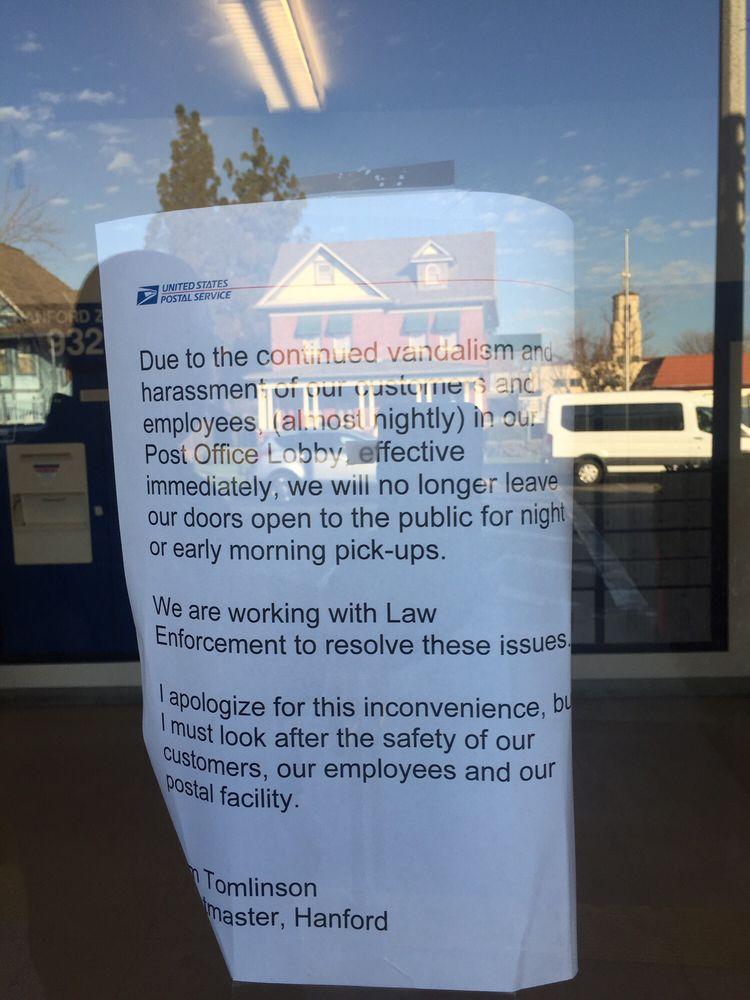 US Post Office: 517 N Irwin St, Hanford, CA