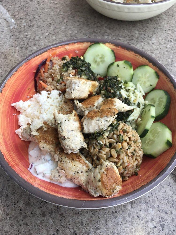 Mediterranean Salad Trio Bowl With Chicken I Suggest