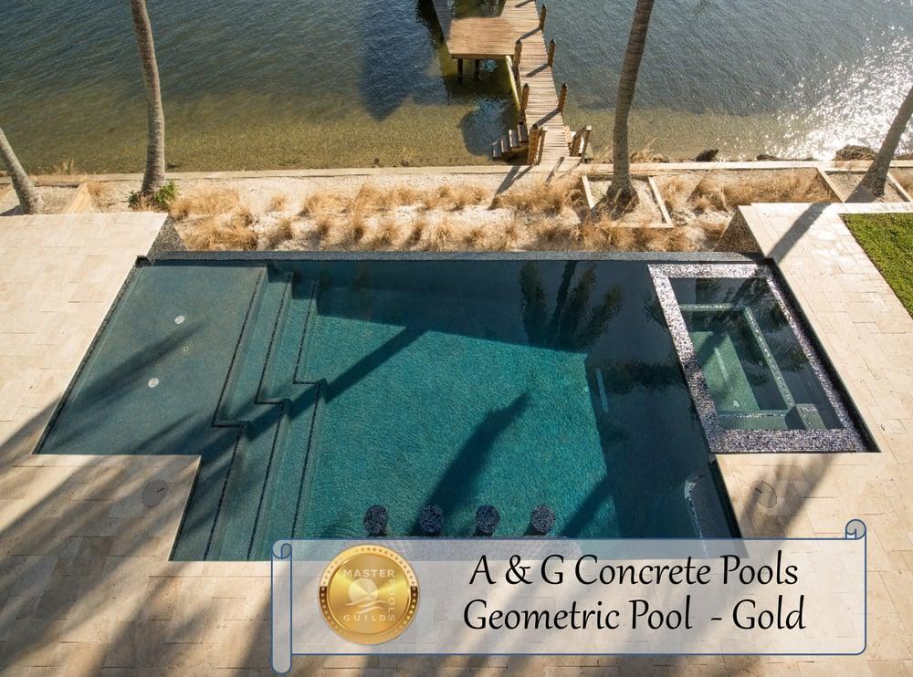 2014 Gold Award Winner Master Pools Guild A Amp G Concrete