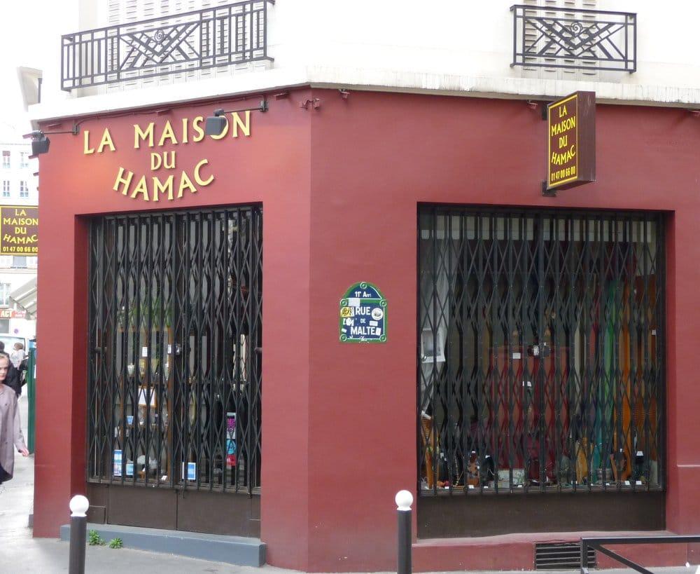 la maison du hamac cerrado casa y jard n 57 rue malte r publique par s paris francia. Black Bedroom Furniture Sets. Home Design Ideas