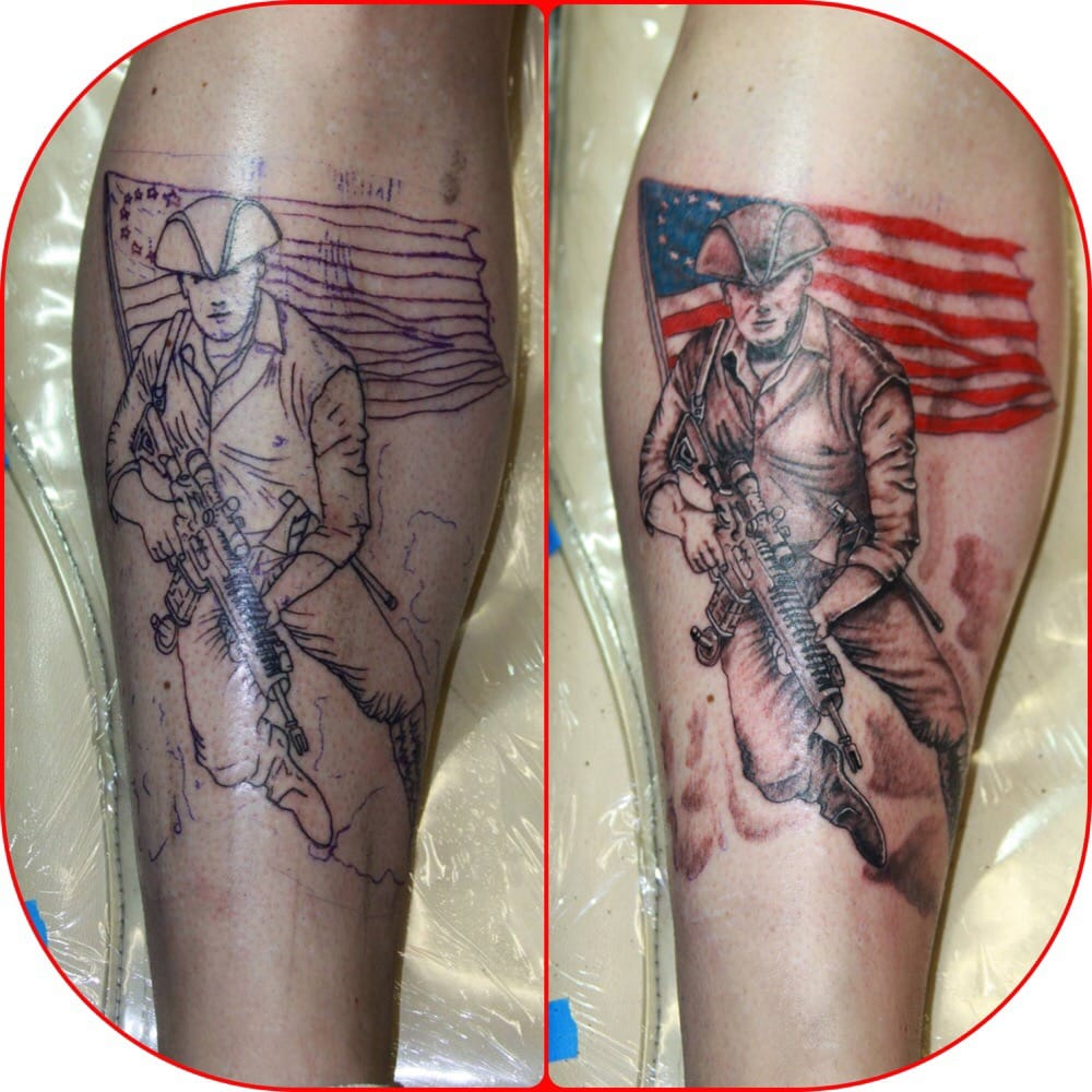 American minuteman tattoos bing images for American revolutionary war tattoos