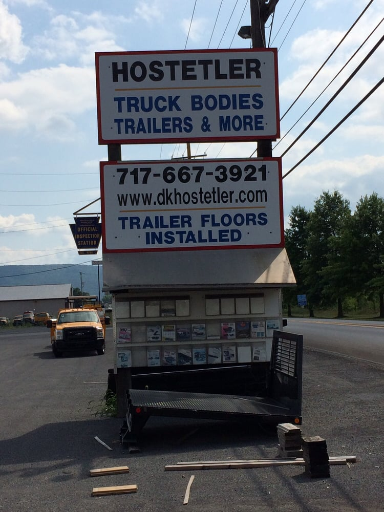 Hostetler Truck Bodies & Trailers: 5015 Old  Hwy 322, Milroy, PA