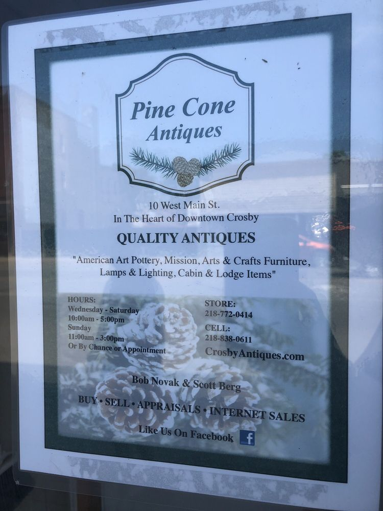 Pine Cone Antiques: 10 West Main St, Crosby, MN