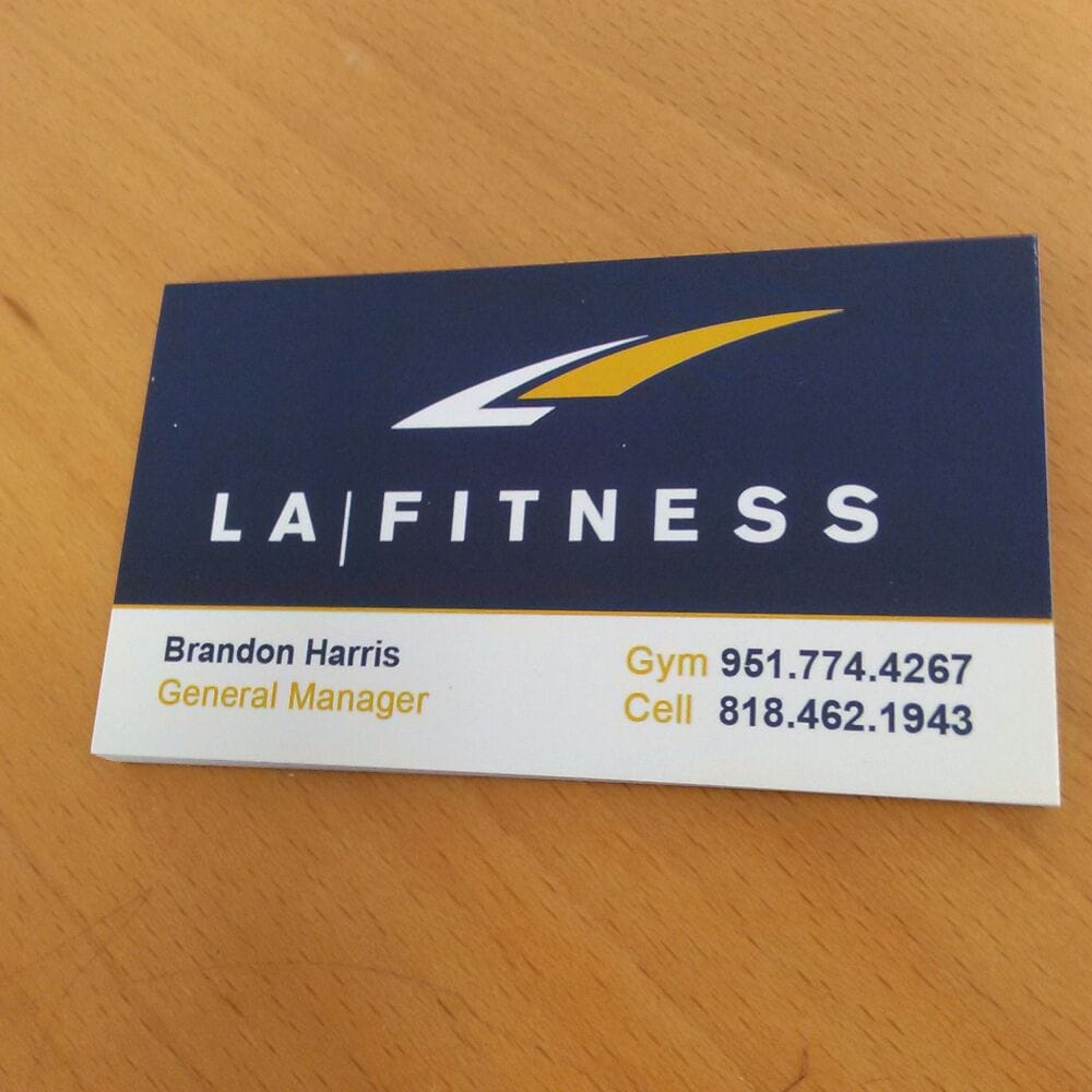 Business cards for la fitness new facility yelp photo of 951 designs riverside ca united states business cards for la reheart Image collections