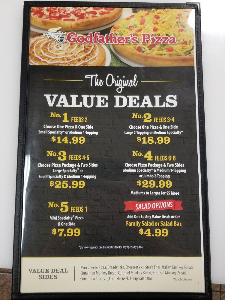 Godfathers Pizza Coupons & Promo Codes