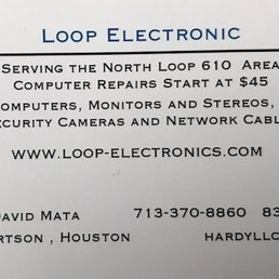 Loop electronics get quote it services computer repair 4718 photo of loop electronics houston tx united states our current business cards reheart Images