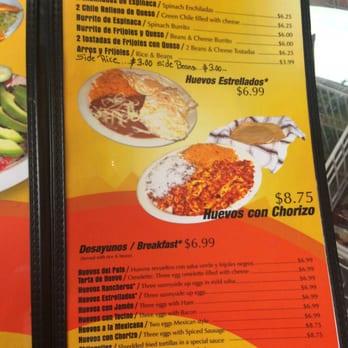 El Pato Mexican Food Menu