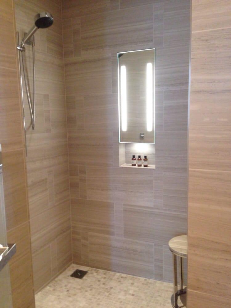 Amazing double headed showers. Huge! - Yelp