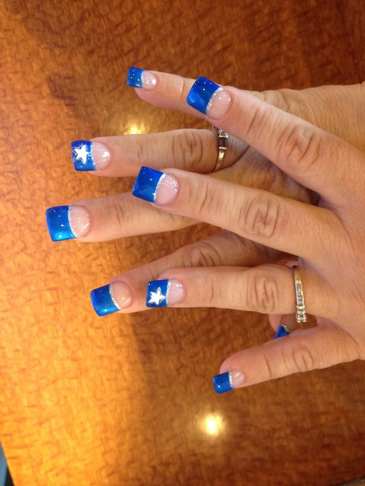 Ladies Love Football Too Dallas Cowboy Nail Design Whats Ur