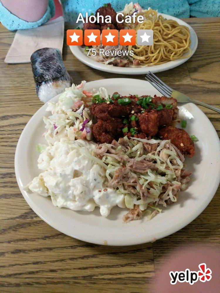 Food from Aloha Cafe