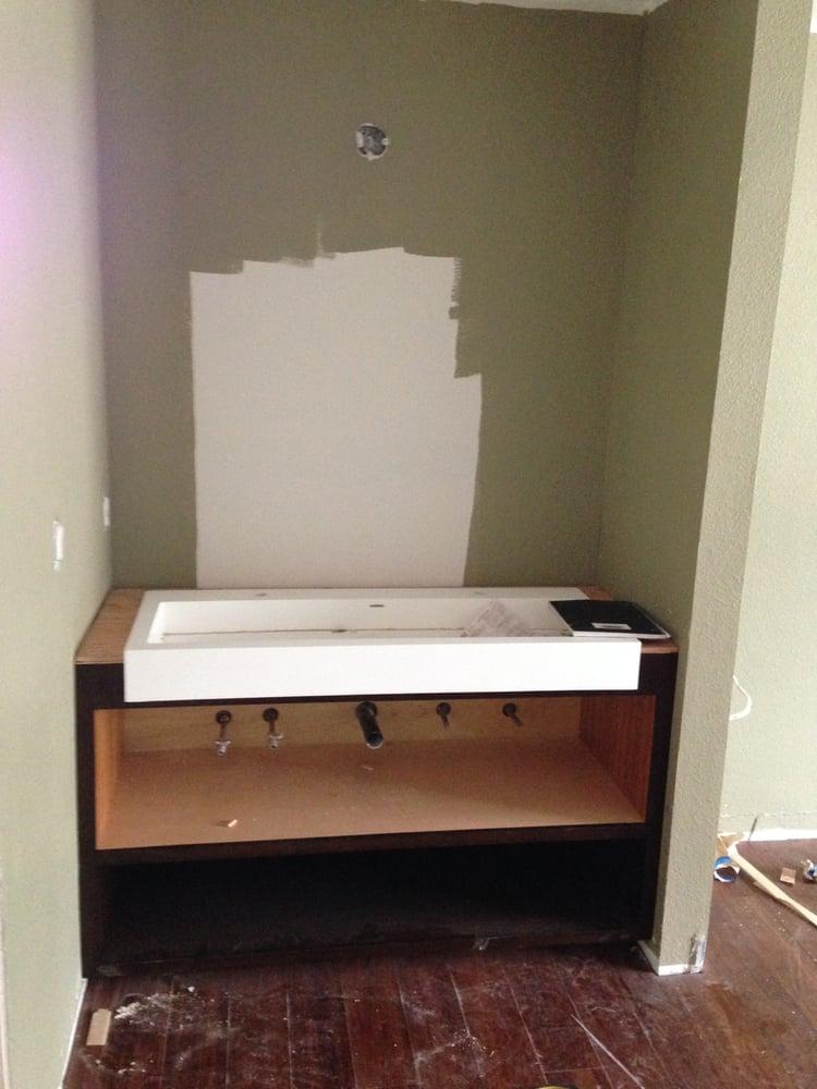 New Master Bedroom Sink Vanity Being Installed Yelp