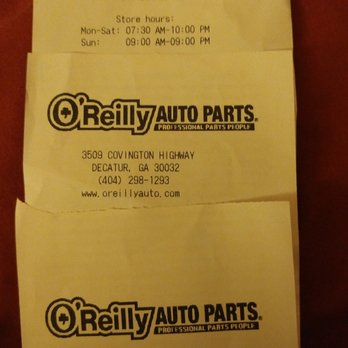 O'Reilly Auto Parts - Auto Parts & Supplies - 3509 Covington Hwy ...