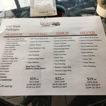 Red Carpet Car Wash Prices