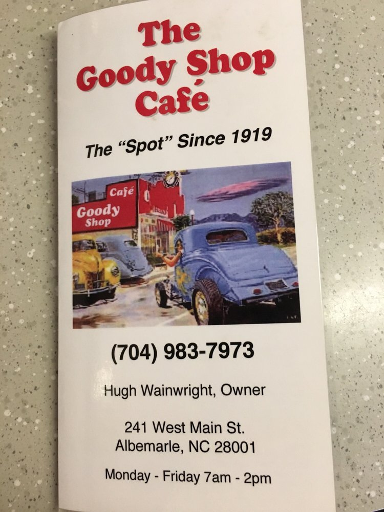 Goody Shop Cafe: 241 W Main St, Albemarle, NC