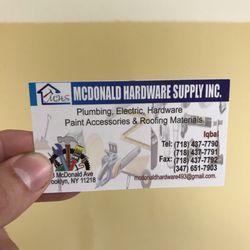Mcdonald Hardware Supply Hardware Stores 493 Mcdonald Ave