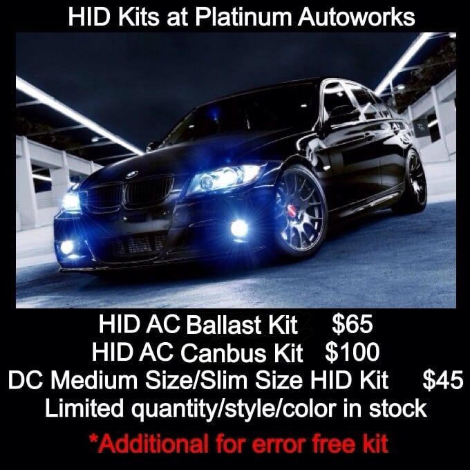 July Special On HID Kits At Platinum Autoworks