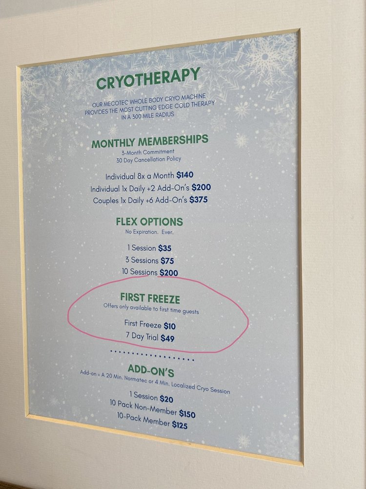 Cryo + Lounge: 4600 Shelbyville Rd, Louisville, KY