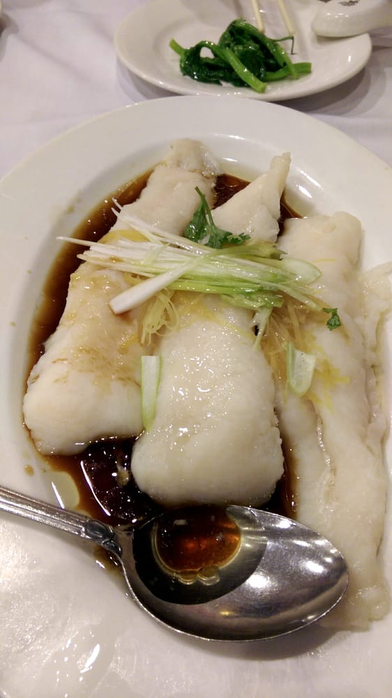 Steamed cod with ginger and green onion. - Yelp