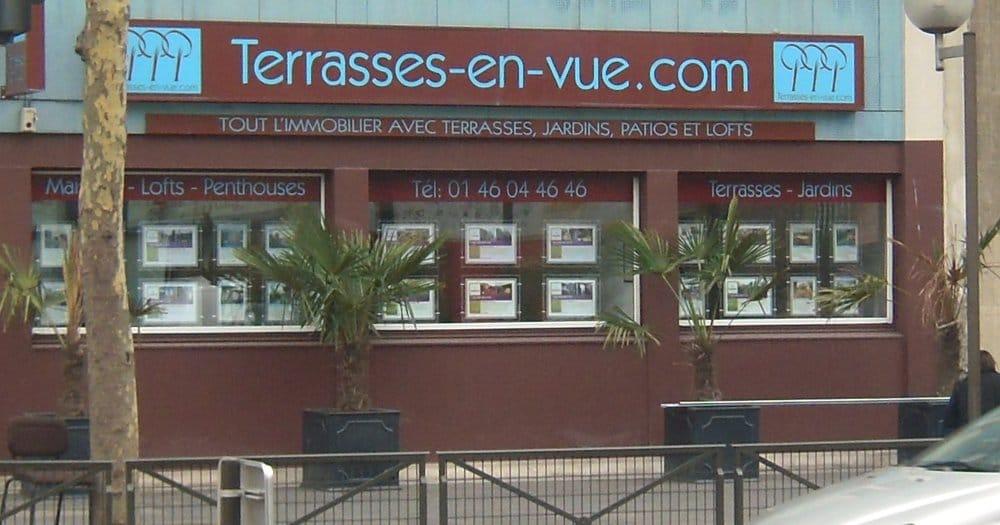 Terrasses en vue agence immobili re 51 bis route de la for Agence immobiliere 3f boulogne billancourt