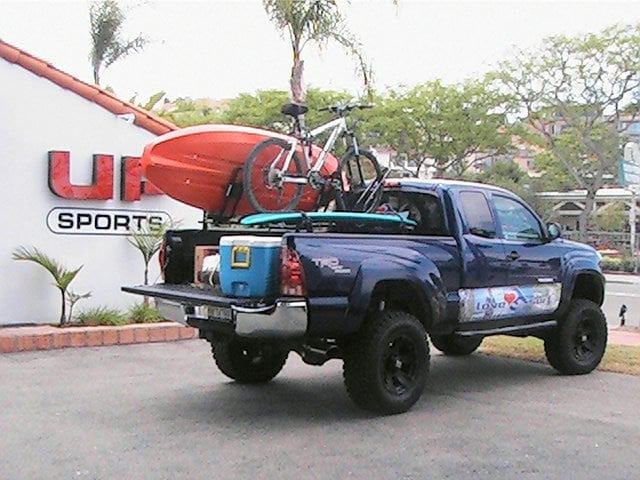 Toyota Tacoma With L2s Sport Rack System Carrying Surfboard Bike Amp Kayak Yelp