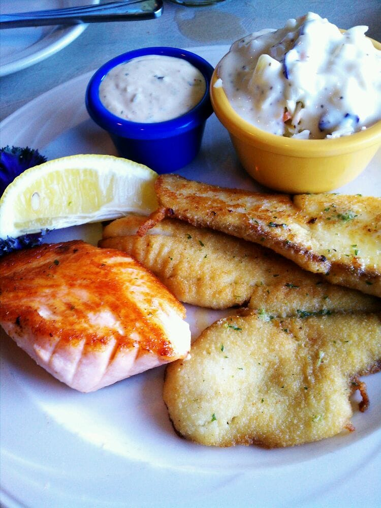 Northern combo sole salmon with coleslaw yelp for Anthony s fish grotto san diego