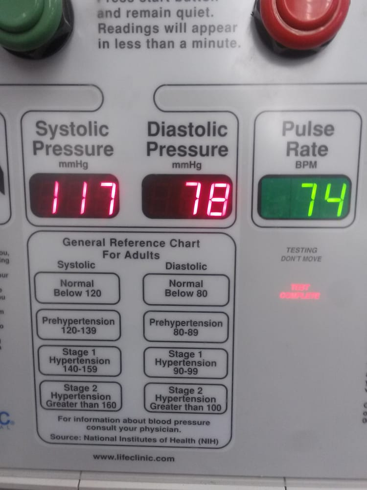 high blood pressure machine cvs