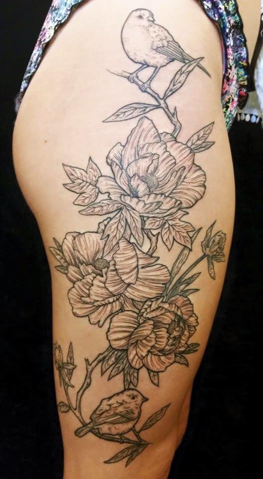 Tattoo done by robert mccollum at paris tattoos in for Paris tattoos charlotte
