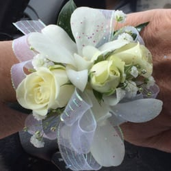 country garden florist. photo of country garden florist - clinton, ma, united states. all white corsage e