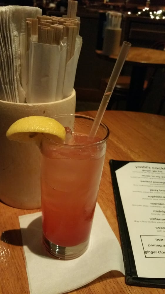 A Non Alcoholic Drink Called Ginger Blossom Ginger Beer Cherry