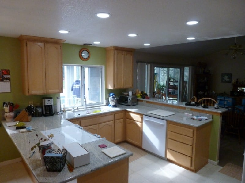 kitchen lighting upgrade complete 6 recessed lights with 4000k led