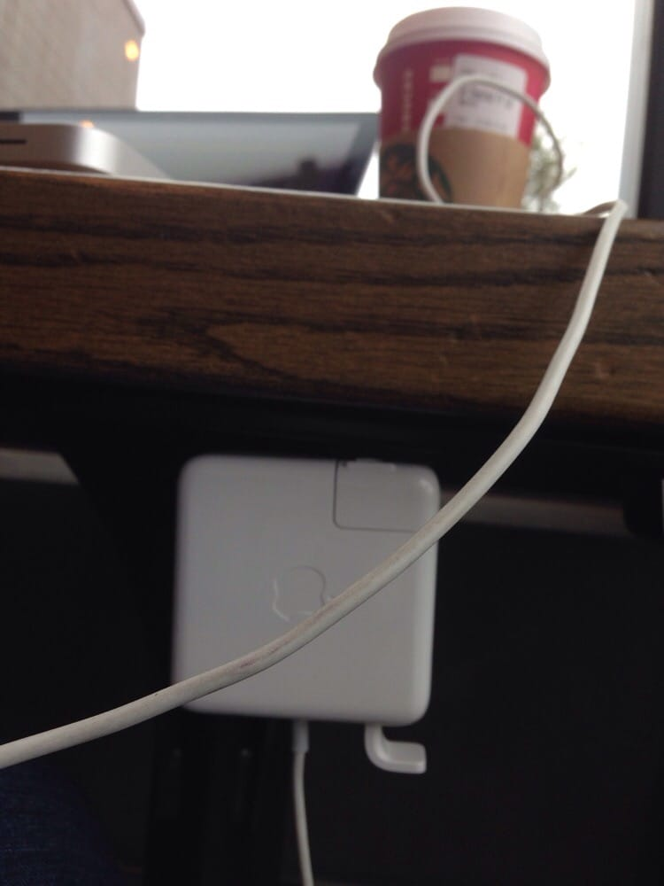 Photo Of Starbucks   Austin, TX, United States. Power Outlets Located Under  The