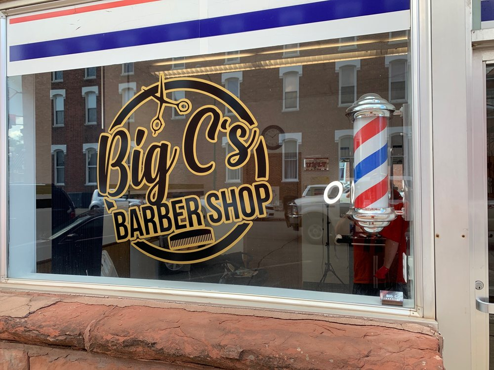 Big C's Barber Shop: 209 E State St, Centerville, IA