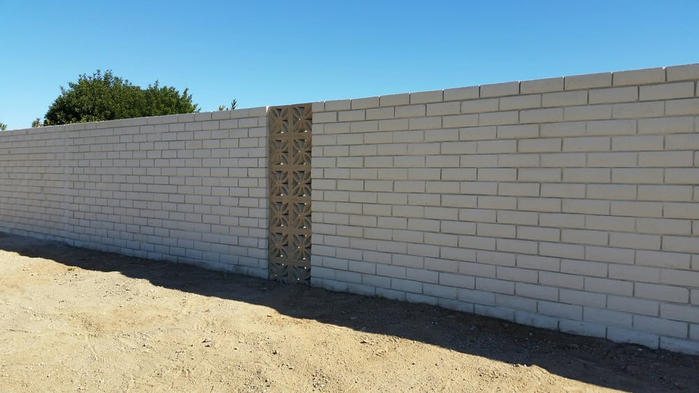 8x4x12 slump block fence at 6 ft tall painted white yelp for Slump block construction