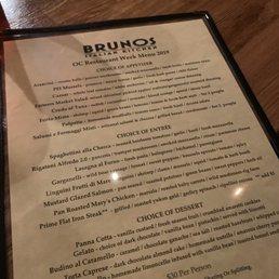 Photos For Brunos Italian Kitchen Menu Yelp